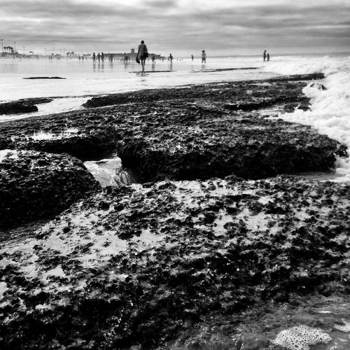 Beach Carcavelos Portugal EyeEm Nature Lover Relaxing Taking Photos Beachphotography Blackandwhite Monochrome