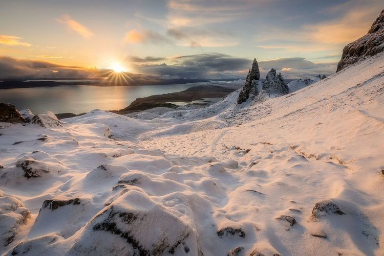 Winter on the Isle of Skye, Scotland Sunset Sunrise Snow Landscape Cold Temperature Mountain EyeEm Gallery EyeEm Masterclass Landscape_Collection Scotland EyeEm The Best Shots Dramatic Sky EyeEm Best Edits EyeEm Best Shots - Nature EyeEm Best Shots - Sunsets + Sunrise