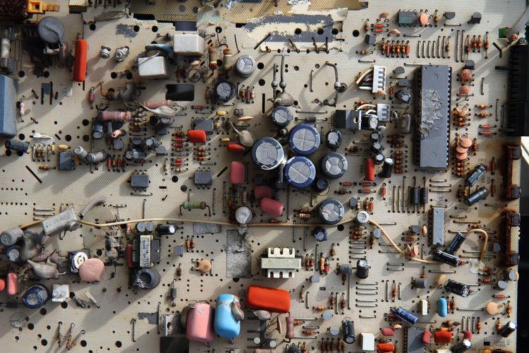 Full frame shot of computer mother board