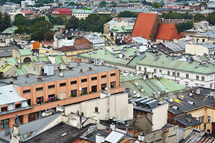 Old Town houses, view from above, Krakow, Poland Aerial View Architecture Building Building Exterior Church City Cityscape Colorful Holiday House Krakow Old Town Outdoors Perspective Place Poland Roof Square Tourism Tourist Tourist Attraction  Travel Travel Destinations View From Above