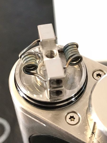 Dual Coil RDA Vaping Is The Future Vaporfanatics VapeLife Vapecommunity Close-up Metal No People Indoors  Equipment Technology Machinery Still Life Machine Part High Angle View Single Object Container Silver Colored Focus On Foreground Industry Shiny Steel