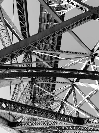 The Don Luis Bridge Porto Bridge - Man Made Structure Architecture Built Structure Metal Low Angle View Sky No People Connection