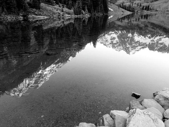 Rocky Mountains Alpine Lake Reflection Beauty In Nature Tranquility Landscape Mountains Snowcapped Mountains Water Lake Reflection Tranquil Scene Scenics Lakeside Mountain Range Snowcapped Mountain Idyllic Shore