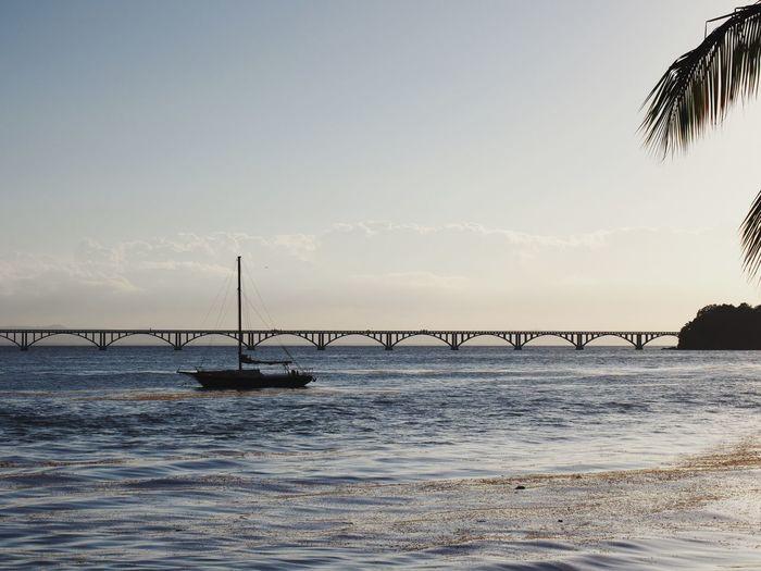 Water Sky Sea Nature Beauty In Nature Scenics - Nature Beach Bridge Outdoors Wave Land No People