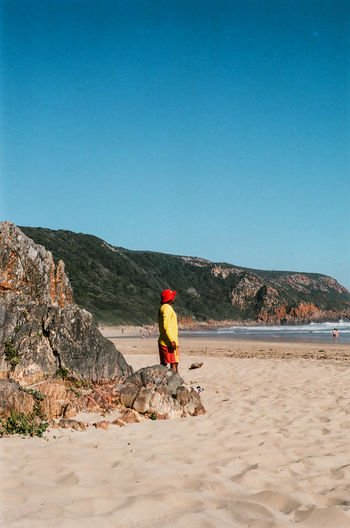 35mm Film Analogue Photography Kodak Nature Beach Beachphotography Beauty In Nature Day Leisure Activity Life Guard Lifestyles Nature_collection One Person Outdoors Safety Sand Sky Sunlight