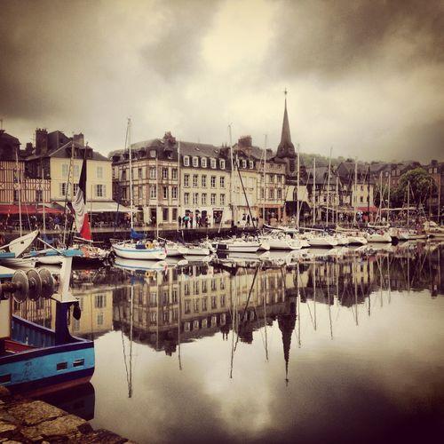 Boats Honfleur Honfleur, France At Port D'Honfleur