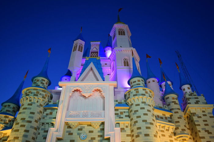WONDER OF DECORATION. Wana travel to Disney Land ? Lets have a journey with me... This is a replica of Disney Land built for Durga Puja 2016 at Berhampore India This shot was taken at 5 A.M. when sun is just rising. Disney Land Architecture Building Exterior Built Structure Low Angle View Spirituality Place Of Worship Religion Blue Travel Destinations Clear Sky Dome Tourism High Section Famous Place Architectural Feature Sky History Outdoors Art Photography Art And Craft Replica  The Architect - 2018 EyeEm Awards