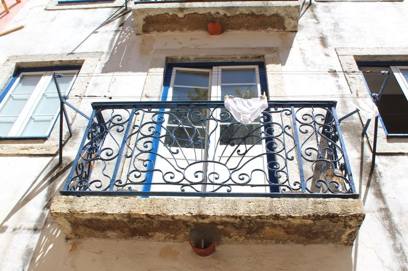 Your Ticket To Europe Outdoors Close-up Lisbon Lisboa Underwear Shoot Underwears Sexyunderwear underweargoesbalcony Balconydesign Balcony View Balcony Shot Whitepants Werk36