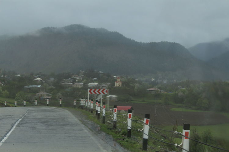 #Georgia #svaneTi Beauty In Nature Day Fog Landscape Mountain Mountain Range Nature No People Outdoors Road Sky Tranquility Tree