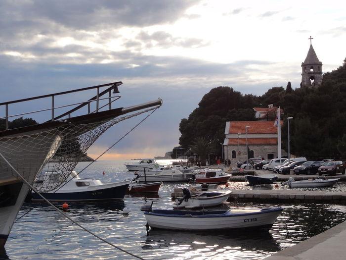 Boat Cavtat, Croatia Cloud Cloud - Sky Cloudy Croatia Mode Of Transport Nautical Vessel Outdoors Relaxing Moments Sky Sunset Transportation Waterfront