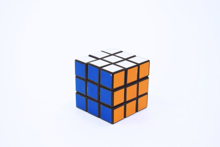Rubric cube Colors Cube White Background Toy Toy Photography Planning