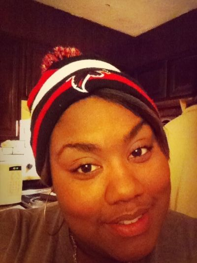 Even tho the Falcons lost I still rep the hat, just cause I like the pom-pom on top an the colors