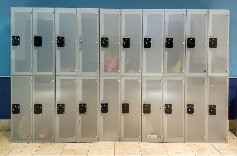 Closed Lockers In Room