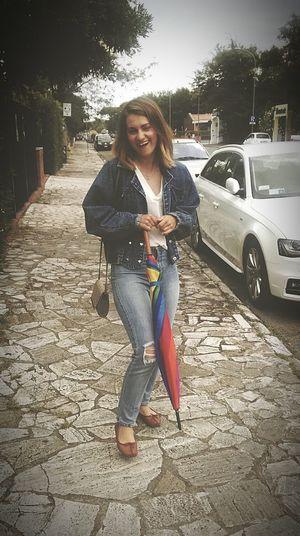 Funnyme Umbrella Jeans♡ Vintage Jacket Bobhaircut