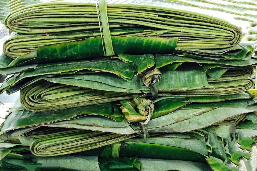 Banana leaves Green Color Freshness No People Close-up Leaf Nature Day Bundled Up Market Stacked Up BananaLeaf