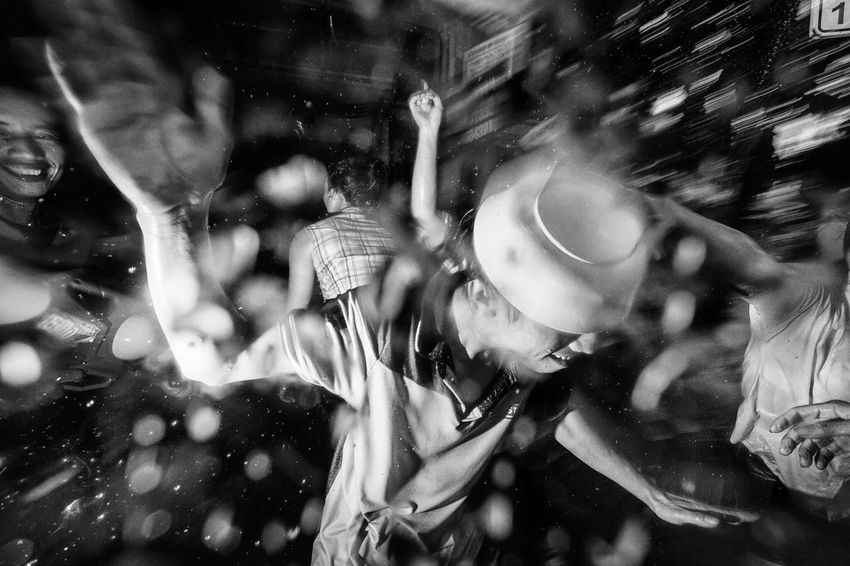 Freak Songkran 2016 / 2 Songkran is an annual festival in Thailand celebrating the traditional Thai New Year. Water is splashed and poured onto people as a symbol of washing away all of their sins and bad luck. Sometimes, it gets a little freaky. Bangkok Thailand Showcase July Photooftheday Streetphoto_bw Streetphoto Street Photography Streetphotography Black & White Blackandwhite Black And White Streetphotographer Water Dark
