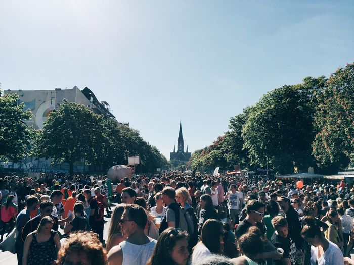 Crowd during carnival of cultures 2015 in berlin
