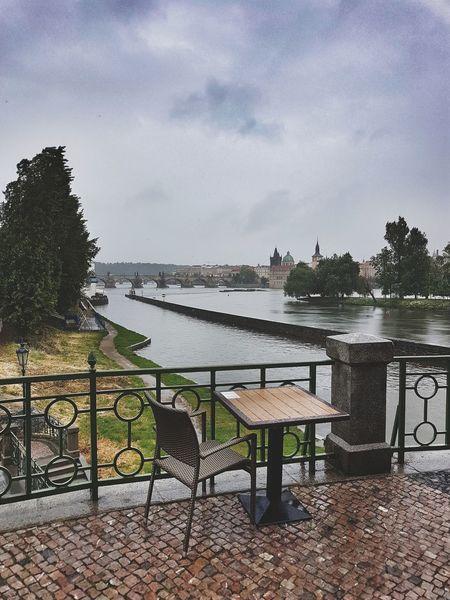 Water Sky Outdoors No People Czech Republic🇨🇿 Prague Karlův Most River Rainy Days Rainy Days☔ Bridge