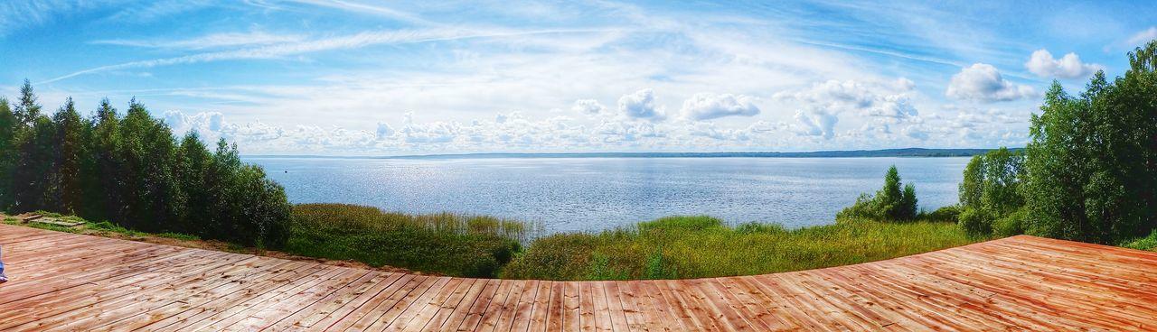 Panorama Braslav Braslavlakes The Great Outdoors - 2015 EyeEm Awards Clouds And Sky Blue Sky Cottoncandyclouds