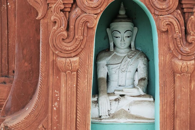 Religion Human Representation Statue Spirituality Sculpture No People Place Of Worship Outdoors Close-up Day Buddha Buddhism Buddhist Tradition Cultures Stone EyeEm Best Shots EyeEm Gallery Check This Out Popular Photos Travel in Inn Dein Inle Lake , Myanmar