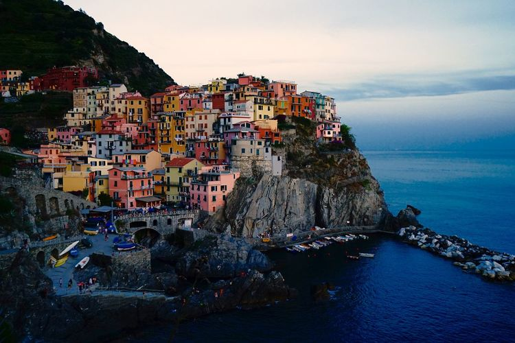 Images taken in the clouded golden hour of the beautifull Cinque Terre in Italy Cinque Terre Riomaggiore, Building Exterior Built Structure Cinqueterre Italy Cinque Terre Mountain Village Italy Riomaggiore Village Italy