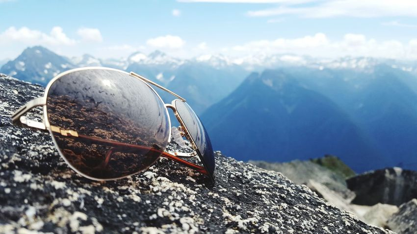 High in the mountains. Mountain Mountain Range No People Close-up Beauty In Nature Scenics Sky Outdoors Kenneth Cole  Sunglasses