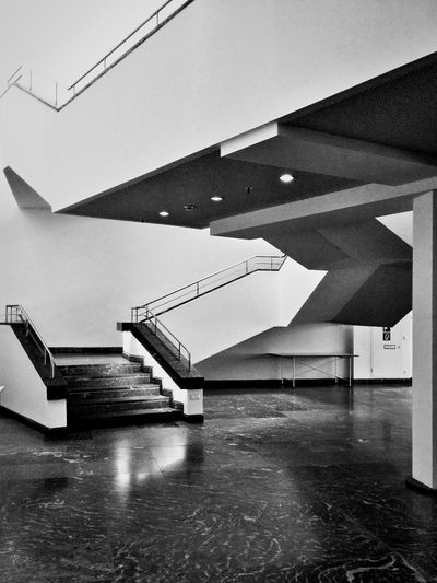Blackandwhite Staircase Diagonal Lines And Angles Minimalism