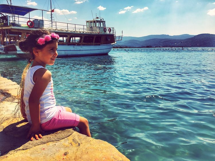 Marmaris Akyaka Deniz Photographer Photography #Nature  Nature Side View Day Sea Childhood Sky Nautical Vessel Child Beauty In Nature Females Casual Clothing Outdoors