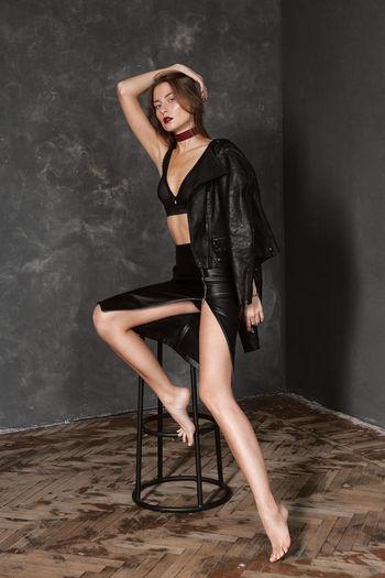 Portrait Of Beautiful Fashion Model Posing For Photo Shoot