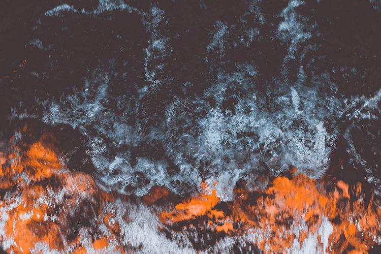 Full frame shot of flowing water