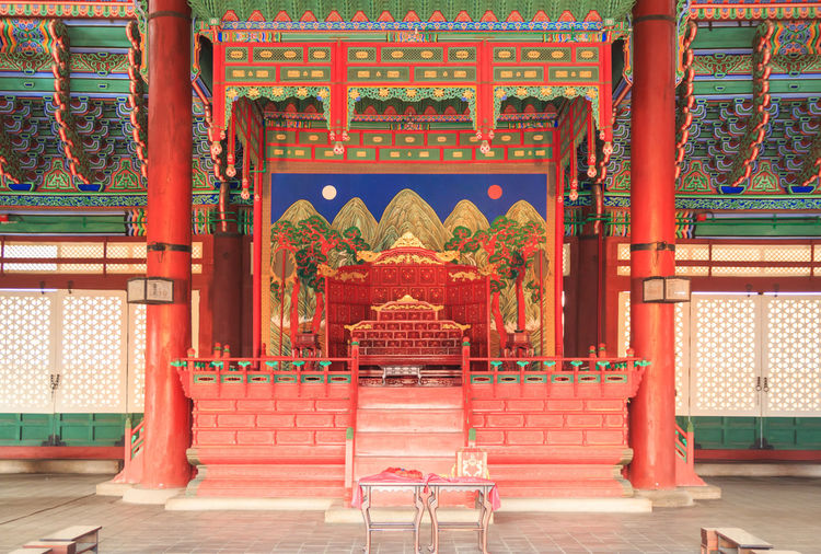 Architecture Built Structure Cultural Geunjeongjeon Gyeongbokgung Gyeongbokgung Palace, Seoul Heritage History Joseon Korea Palace Palaces Red Seoul Throne Travel Destinations Wooden