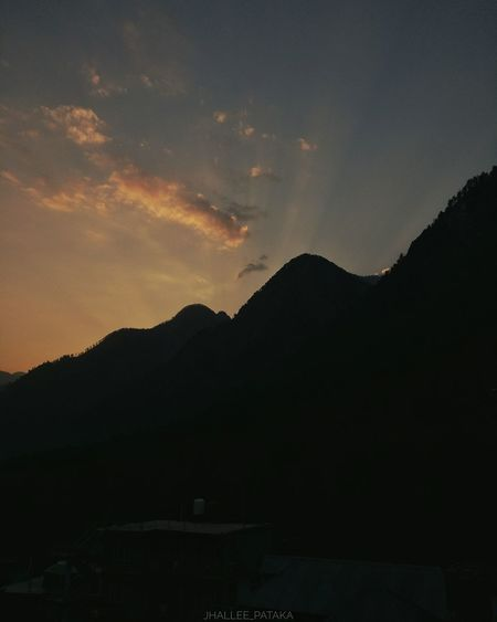 Sunset Lover. Mountain Nature Sky Beauty In Nature Silhouette Tranquility Sunset Outdoors Landscape Sunset Silhouettes Sunset_collection Sunset_captures India Kasol Mountains Travel Destinations Travel Photography Traveldiaries