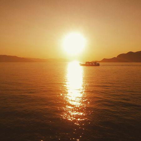 Sunset Sunset_collection Sunset Silhouettes. Greece Sea Ferry Ferryboat