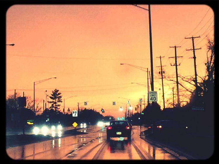 The sky was wickedly orange tonight!