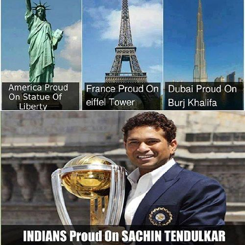 """GOD SACHIN TENDULKAR.... U wer the only reason I started playing cricket when I was small.... U wer the only reason we used to trouble the ground floor pple by asking """"Score kitna hua .... Sachin ne century mara ya nai.... Kitne pe out hua.... kaise out hua... n den used to abuse the bowler who took ur wicket """".... Ur centuries used to bring smile on ma face.... """"Sachin ne century mara... bas ajj to match jeeta hi samaj"""".... During school days as soon as the school used to get ova.... I used to run home to c u bat.... n now during collg days used to c the score ol during the lects........... Dis all cmes to an END TODAY..... Bcoz I used to follow cricket bcoz of u..... God Legend SACHIN RAMESH TENDULKAR..... U will b missed and for me its RIP CRICKET :-(:'(:-(:'("""