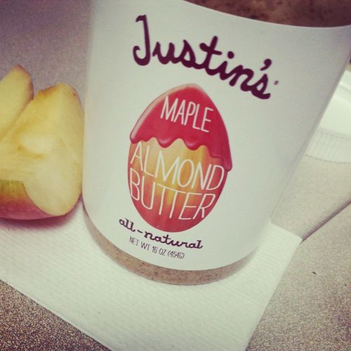 What started as a healthy snack food addition to my diet has maybe become more like an addiction. JustinsAlmondButter Delicious AlmondButterAndApples AfternoonSnackAttack