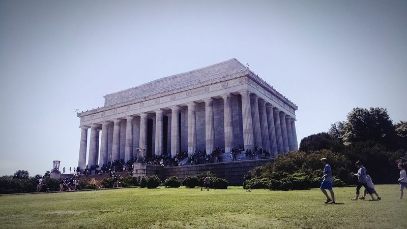 Visiting Washington, D. C. during Memorial Day this is a majestic memorial to an amazing President it was him who freed the Slaves and was killed by a radical Johnwilkesbooth on April 14th 1865 at Ford'sTeather Historical Monuments Living History USA The Architect - 2015 EyeEm Awards