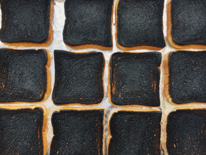Geometric Shapes Burnt Toast🍞 Breakfast Is Served Square My Favorite Breakfast Moment