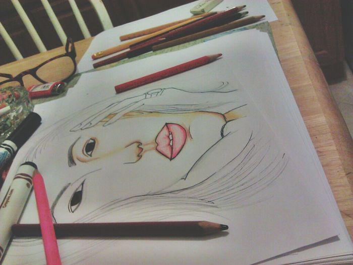 unfinished. My Drawing Art Whatidoforfun Drawing