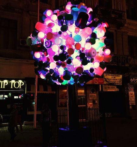 Spotlight Bucharest 2016 Lights Lights Festival Bucharest Romania Pink Colors