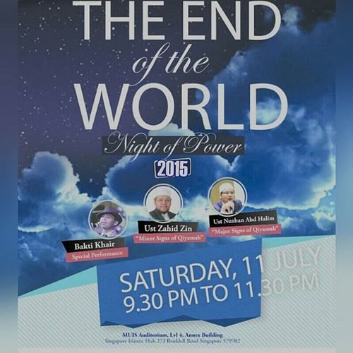 This Saturday night, NightOfPower2015 begins with an awesome talk... Letsgo Gojer Mustgo Veryveryvery Lailatulqadar Theendoftheworld Ramadansg Ramadan2015 BlessingsOfRamadan