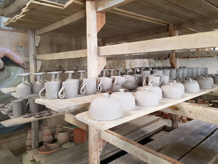 Pottery ceramics factory in Sao Miguel, Azores Islands Artisan Azores Azores Islands Portugal A Ac Ceramic Factory Ceramic Figurines Ceramics Crazy Earthenware Facrory No People Ola Pots Pottery Pottery Factory Shelf Wood - Material Workshop