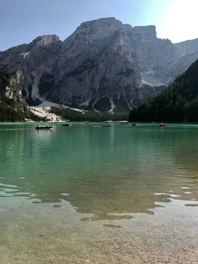 Dolomites, Italy Water Mountain Sky Scenics - Nature Tranquil Scene Tranquility Beauty In Nature Mountain Range Nature Non-urban Scene Day Lake Rock Waterfront Idyllic Reflection Rock - Object