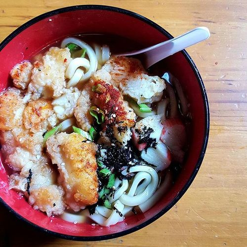 The Udon Soup with Fish at IsshinCafe can definitely awaken your taste buds. The fish has been perfectly cooked while the noodles are quite chunky and chewy. There's crab meat on the side and it has been garnished with seaweed (I think) and spring onions. Overall, if you're looking to try something Savoury in Perth , Udon Soup with Fish should definitely be in your list especially during the cold and unpredictable weather.