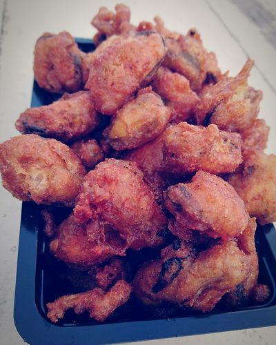 El tiempo de Lunch Pescado Fried Mussels Foodie Food Photography