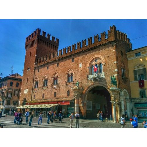 Building @instaghelper FerraraCity Arts Composition street architexture cities lines geometric abstract architecturelovers town archilovers Ferrara beautiful architectureporn urban skyscraper geometry style art city Italy lookingup buildings architecture archidaily pattern instagood
