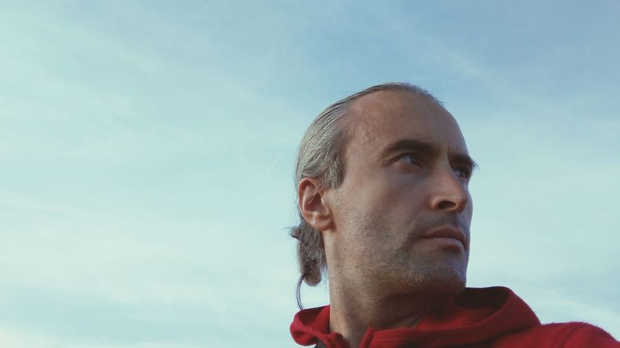 Low Angle View Of Man Against Sky