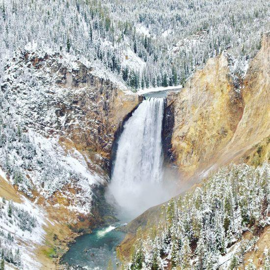 Grand Canyon of Yellowstone. Getoutside Waterfall Nature Scenics Flowing Water Tranquility Power In Nature Neature National Park Yellowstone National Park Grand Canyon
