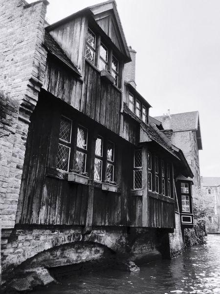 Brugge Brugge, Belgium House Architecture Blackandwhite Black And White Black & White Old Old Buildings