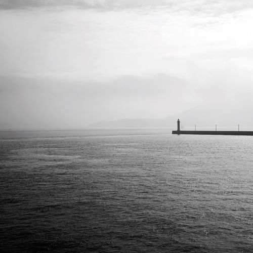 Blackandwhite B&w Photography Seascape Seascape Photography Sea And Sky Minimalism_bw Japan Photography Takamatsu Square Format Lovers Lighthouse Lighthouse_lovers Fine Art Photography